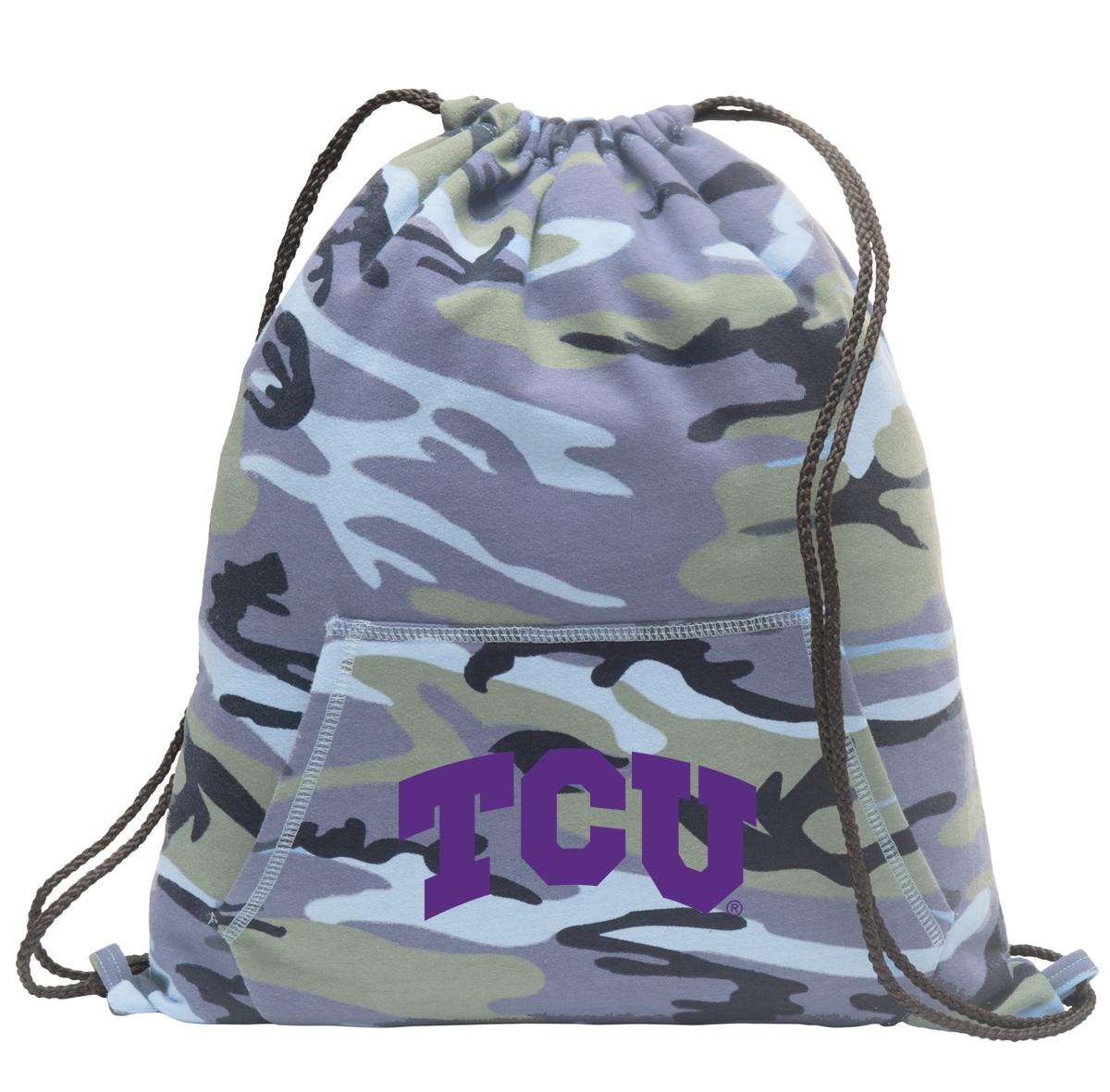 TCU Drawstring Bag Blue Camo
