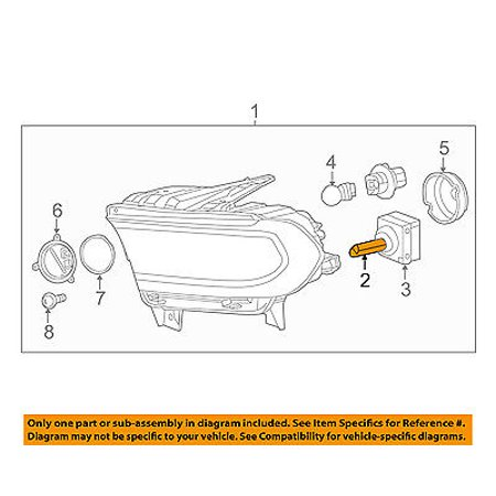 Dodge CHRYSLER OEM 14-17 Durango-Headlight Bulb L09005SL