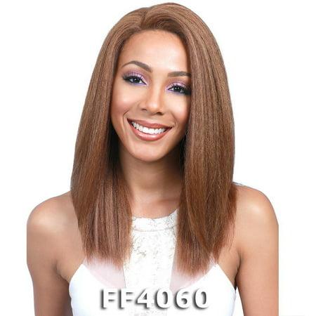 BobbiBoss Lace Front Wig - MLF145 THEA (1 Jet Black) (Jet Black Wig)