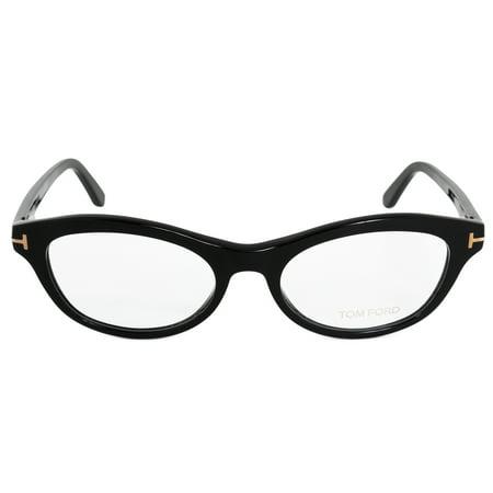 Tom Ford FT5423 001 53 Oval | Black | Eyeglass Frames - Walmart.com