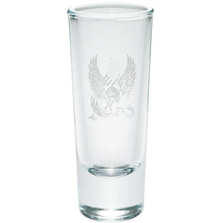 Diy Shot Glass (4th of July Screaming Eagle American Flag Etched Shot Glass)
