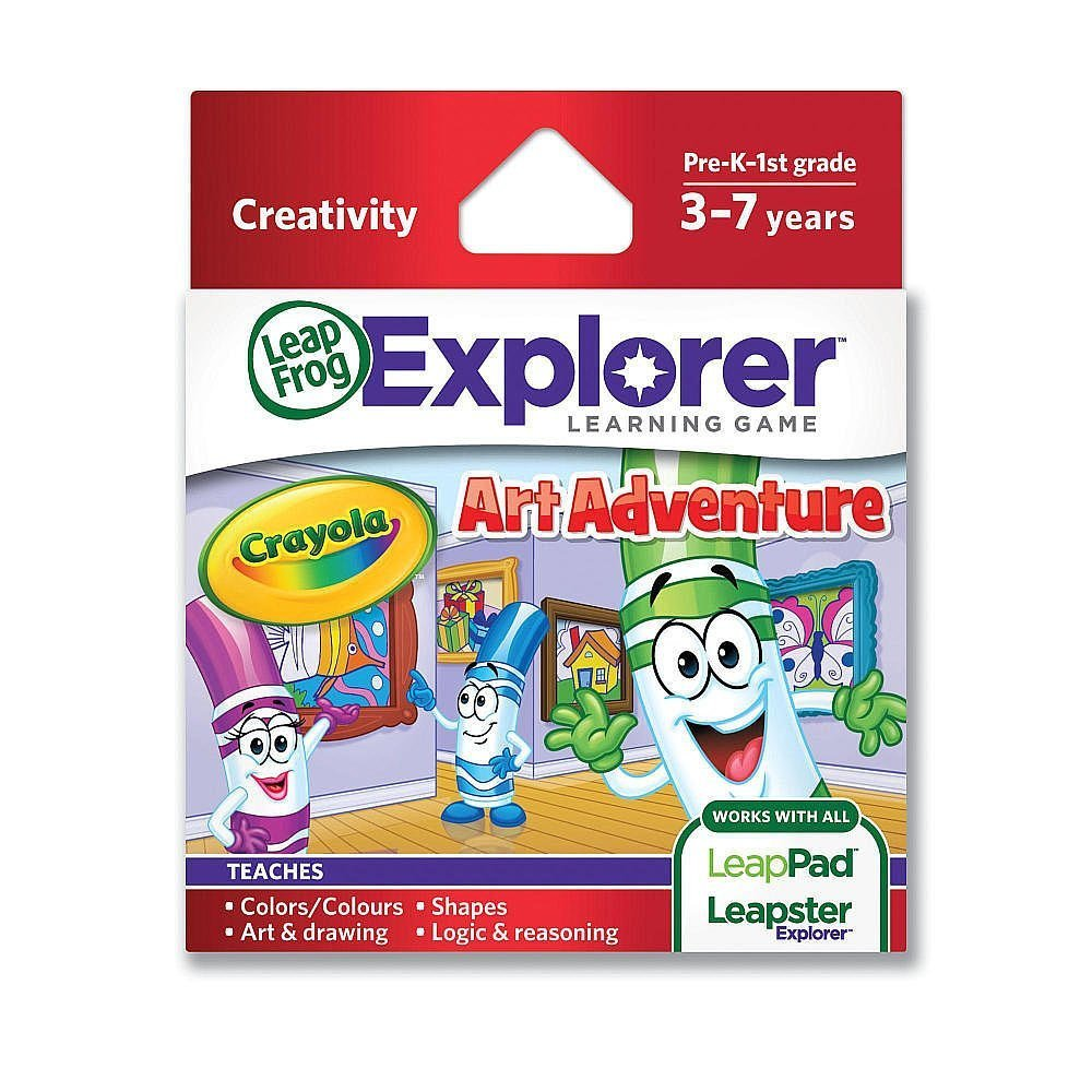 Enterprises Explorer Learning Game Crayola Art AdventureWorks with all LeapPad learning tablets, LeapsterGS... by