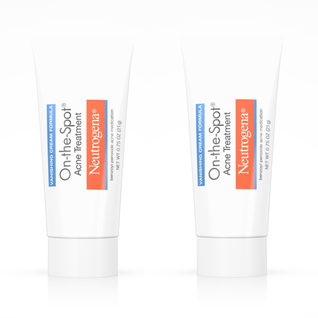 (2 Pack) Neutrogena On-The-Spot Acne Treatment with Benzoyl Peroxide, 0.75