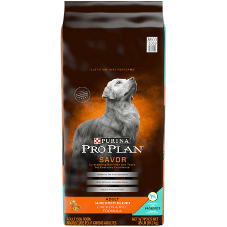 Purina Pro Plan With Probiotics Dry Dog Food, SAVOR Shredded Blend Chicken & Rice Formula - 35 lb. (Best Raw Dog Food For Allergies)
