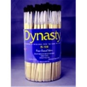 Dynasty B-100 Round Fine Camel Hair Paint Brush Assortment - Assorted Size, Brown, Pack 144