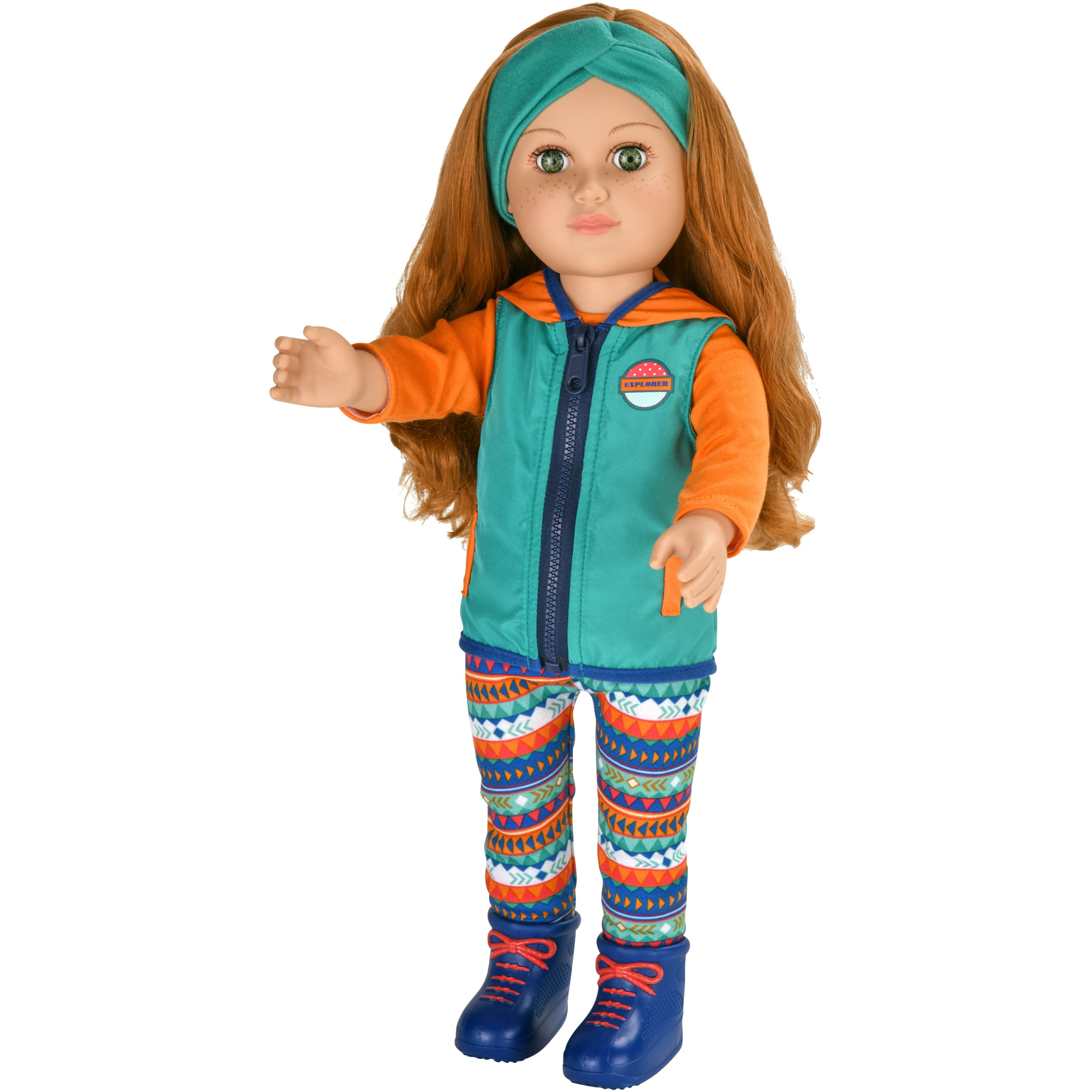 "My Life As 18"" Poseable Outdoorsy Girl Doll, Red Hair"