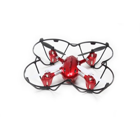 WonderTech Gemini RC 6-Axis Gyro Remote Control Quadcopter Flying Drone with HD Camera, LED Lights, Red by