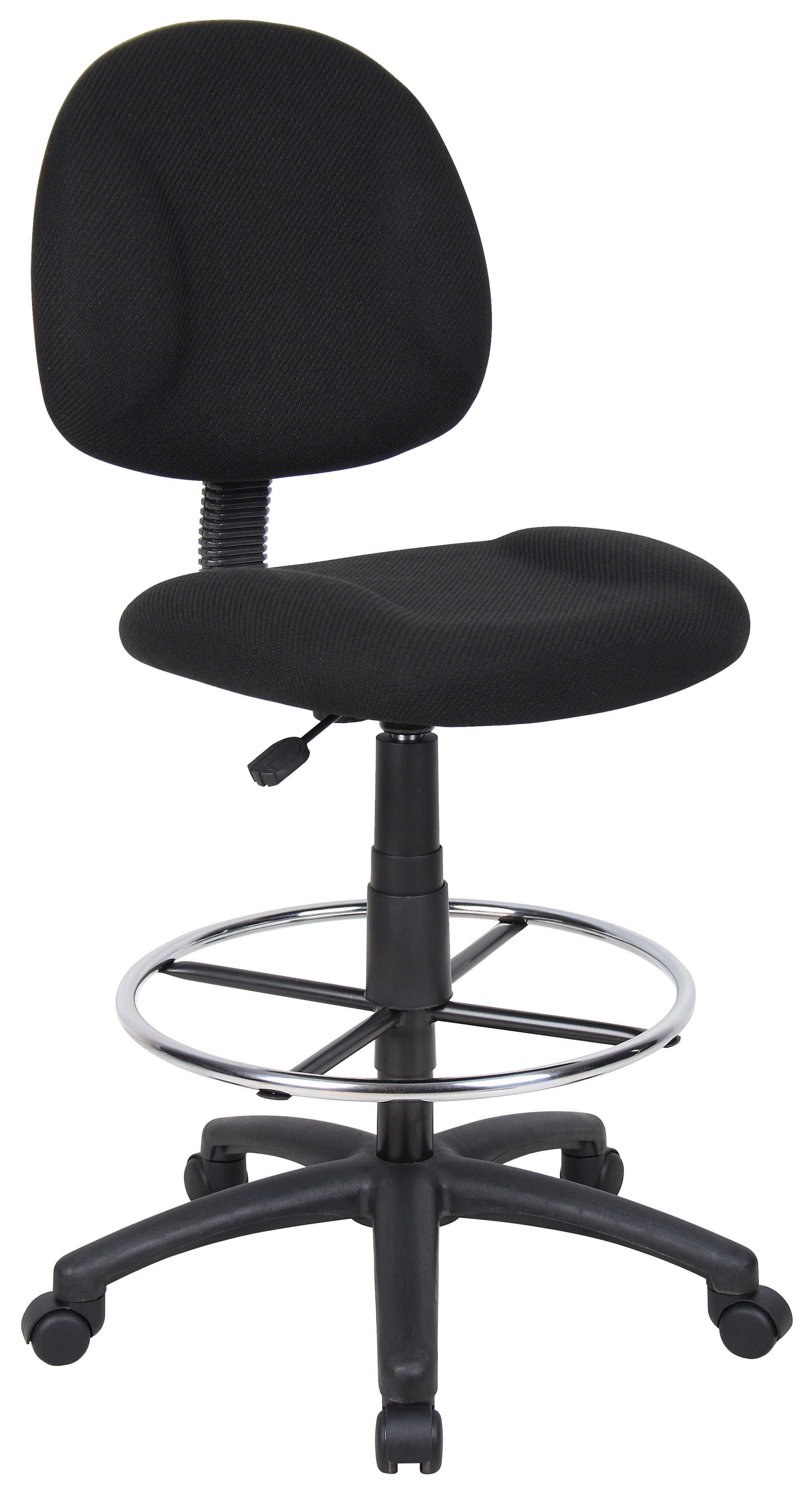 Boss fice Products Black Contoured fort Adjustable Rolling