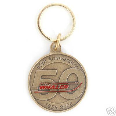 Boston Whaler 50th Anniversary Key Tag Chain