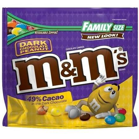 (3 Pack) M & M's 49% Cacao Dark Chocolate Peanut Candies, 19.2 - M&m Lightsaber