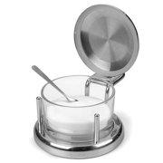 RSVP International - Stainless Steel & Glass Salt Server with Spoon