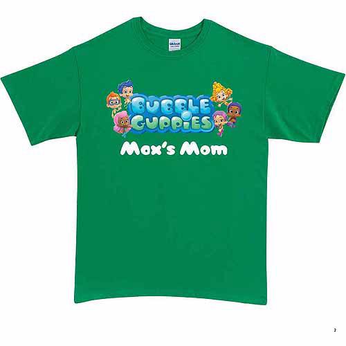 Personalized Bubble Guppies Logo Adult T-Shirt, Green