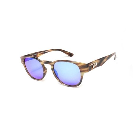 Tortoise Polarized Sunglasses (Peppers Polarized Sunglasses Montreux Brushed Tortoise w/Polarized Blue Mirror)