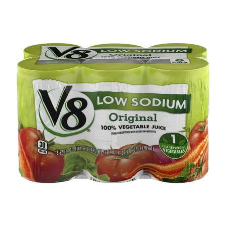 V8 Low Sodium Original Vegetable Juice   6 Ct