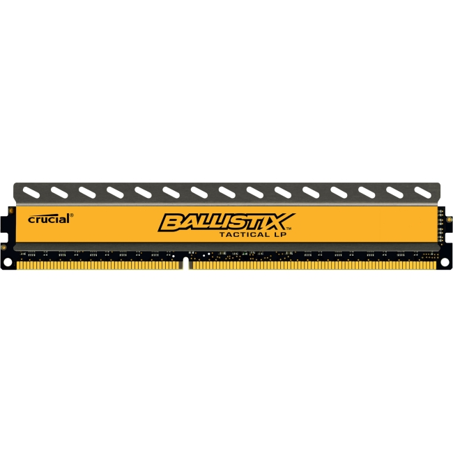 Crucial 4GB, Ballistix 240-pin DIMM, DDR3 PC3-12800 Memory Module - 4 GB (1 x 4 GB) - DDR3 SDRAM - 1600 MHz DDR3-1600/PC3-12800 - 1.35 V - Non-ECC - Unbuffered - 240-pin - DIMM