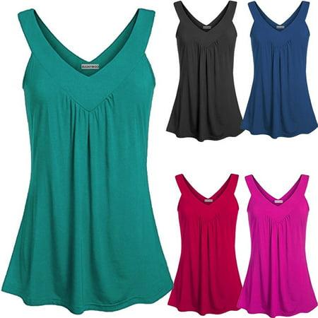 Women's Casual Summer Loose Off Shoulder Deep V-Neck Sexy Backless Sleeveless Blouse Cotton Vest Irregular