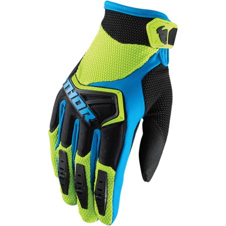 Thor Spectrum Mens MX Offroad Gloves Green/Blue