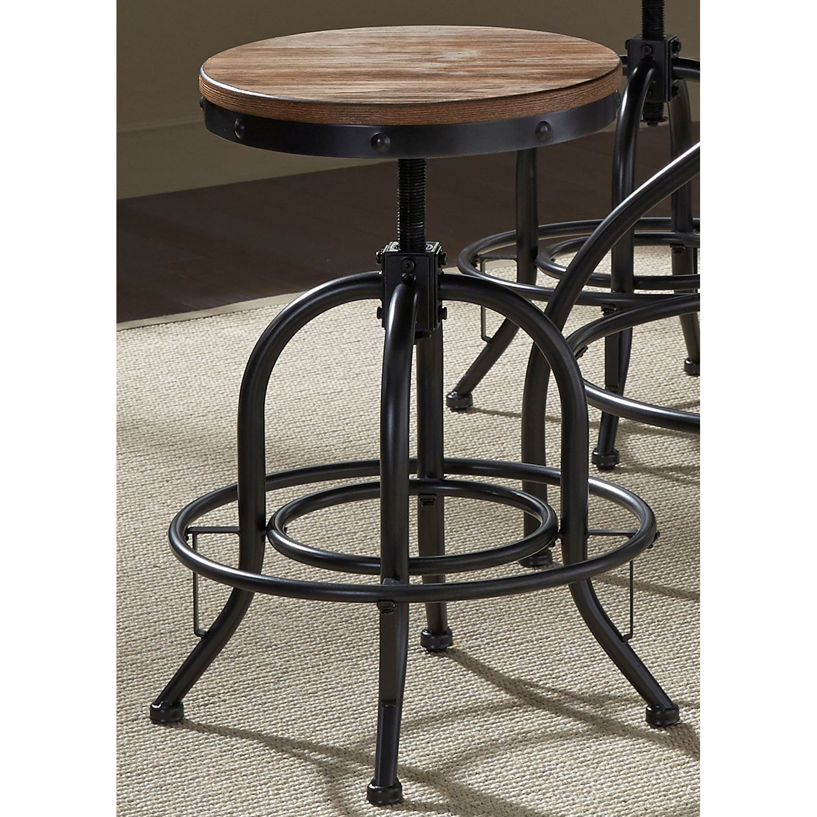 Liberty Furniture Industries Vintage Dining Series Adjustable Barstool - Set of 2