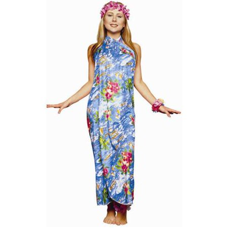 Adult Hawaiian Sarong Dress Costume - Island Costumes
