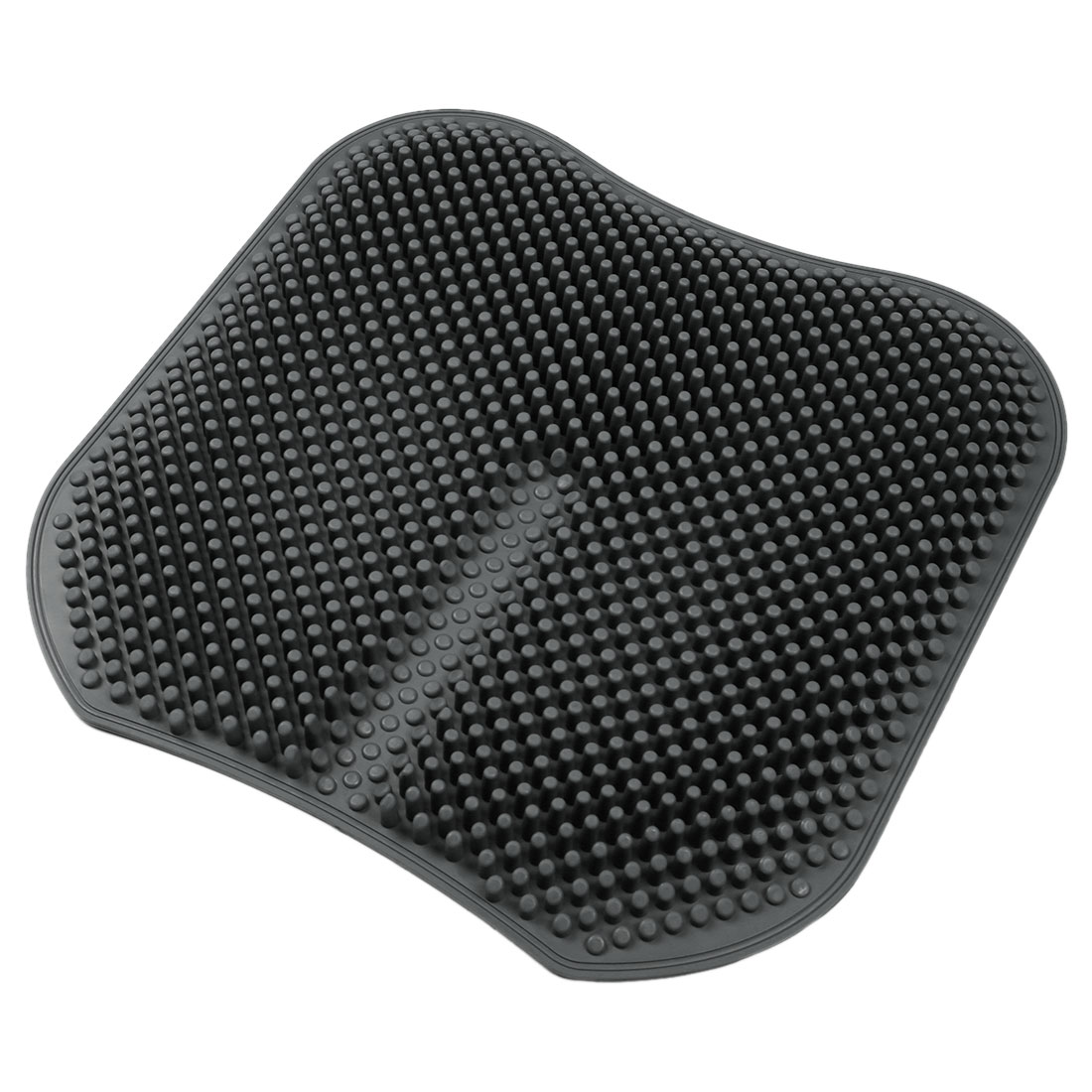Gray Square Shaped Breathable Rubber Car Seat Cushion Cover