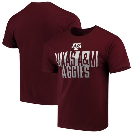 Texas A&m Aggies University (Men's Russell Maroon Texas A&M Aggies Textured Trend Crew Neck T-Shirt)