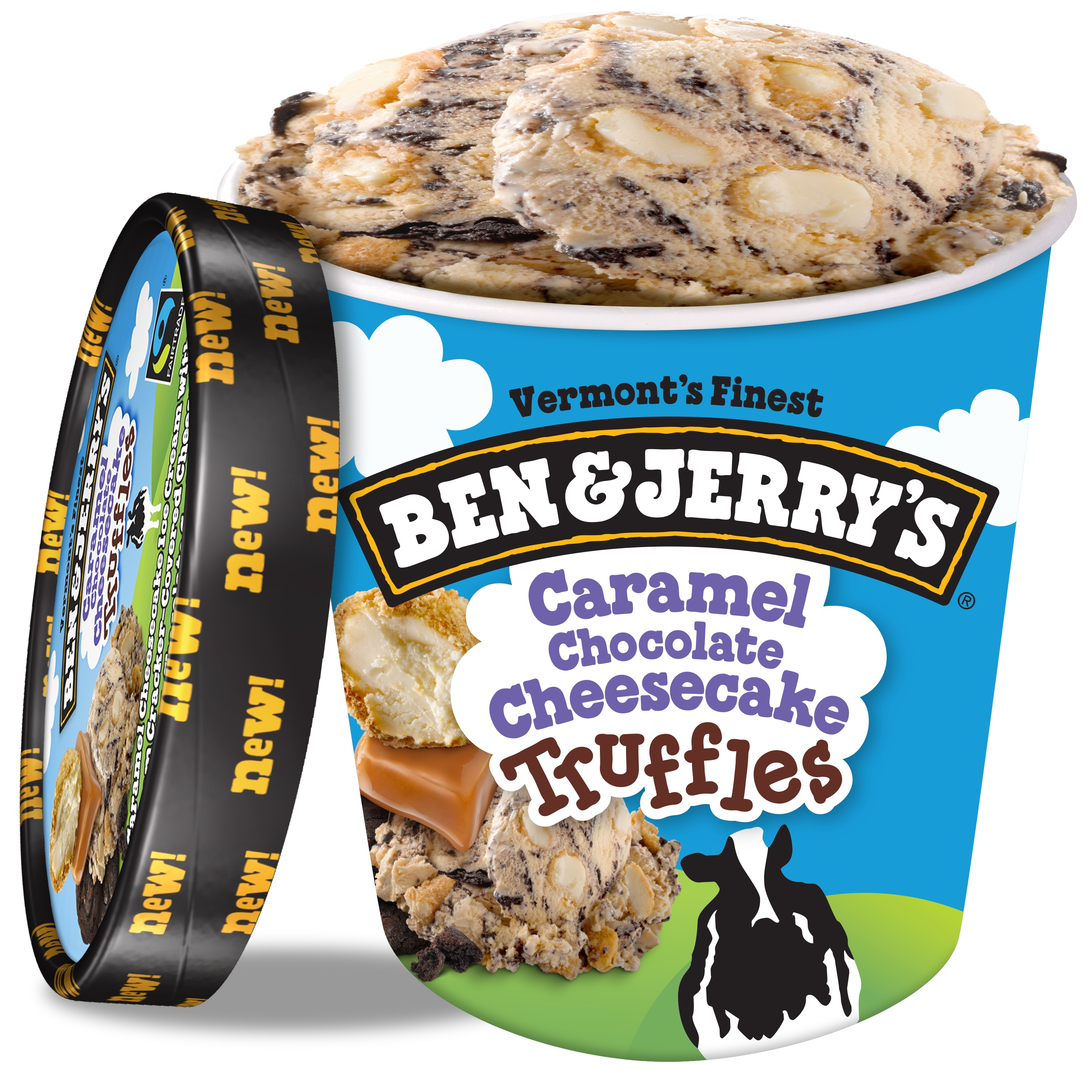 Ben & Jerry's Caramel Chocolate Cheesecake Truffles Ice Cream, 16oz