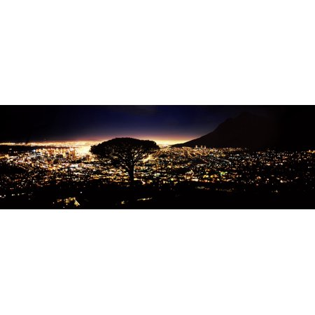 Party City South Hill (Aerial view of a city from Signal Hill Cape Town Western Cape Province South Africa Poster)