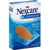 3 Pack - Nexcare Waterproof Knee & Elbow Bandages 8 Each