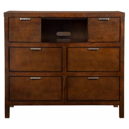 Alpine Furniture Carmel TV Media Chest - Cappuccino