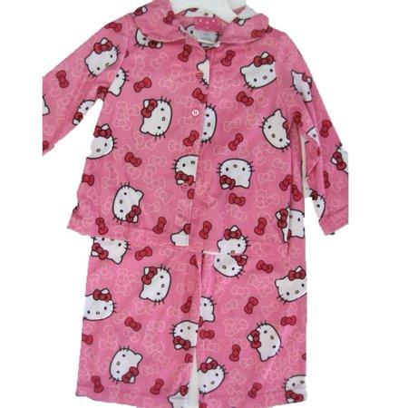 Hello Kitty Little Girls Pink Kitty Bow Print 2 Pc Pajama 2T-4T
