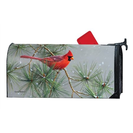 Magnet Works Winter Red Bird MailWrap Magnetic Mailbox Wrap Cover ()