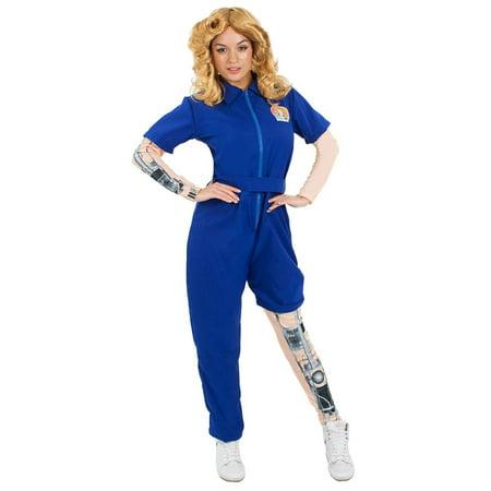 Bionic Woman Adult Jumpsuit Costume (Bionic Woman Halloween Costume)