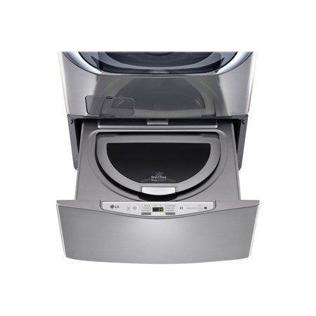 LG SideKick WD100CV - Washing machine - drawer - width: 27 in - depth: 30.9 in - height: 14.1 in - top loading - 1 cu. ft - 700 rpm - graphite steel