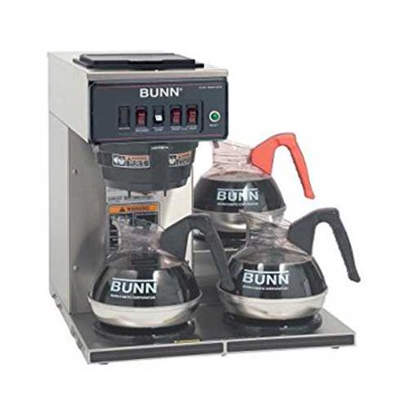 Refurbished Bunn 12950 0112 Cwt 3 Automatic Commercial Coffee Brewer With 3 Lower Warmers