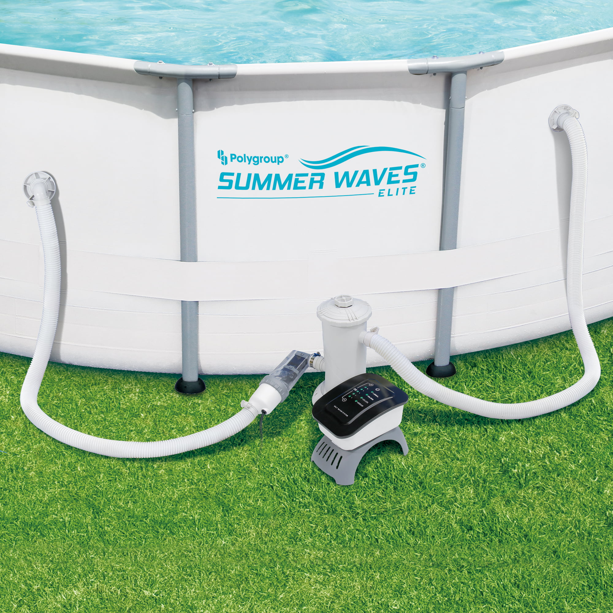 Summer Waves Salt Water Pool System for Above Ground Pools