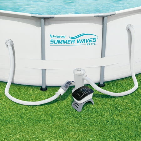 Summer Waves Salt Water Pool System for Above Ground Pools Above Ground Saltwater Chlorine Generator