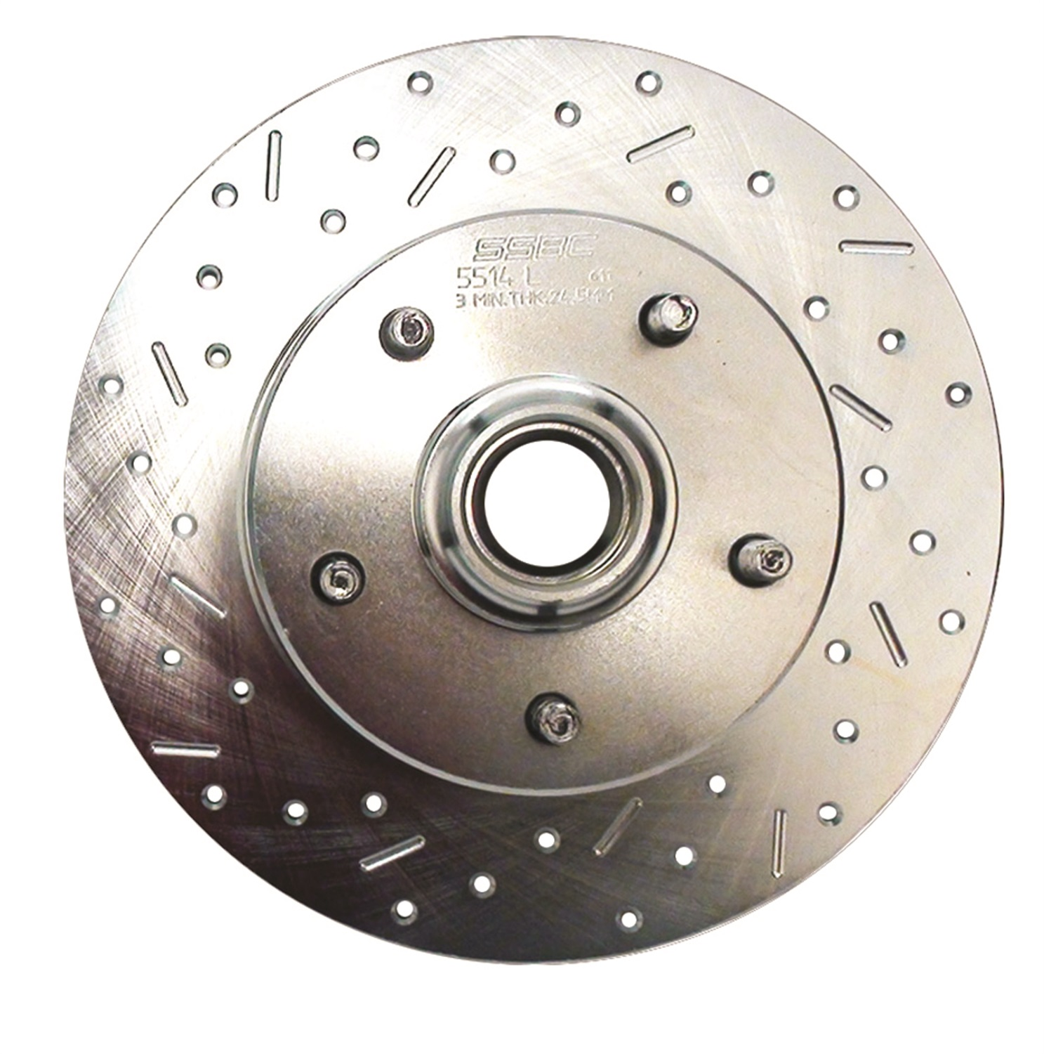 SSBC Performance Brakes 23066AA3L Big Bite Cross Drilled Rotors; Disc Brake Rotor