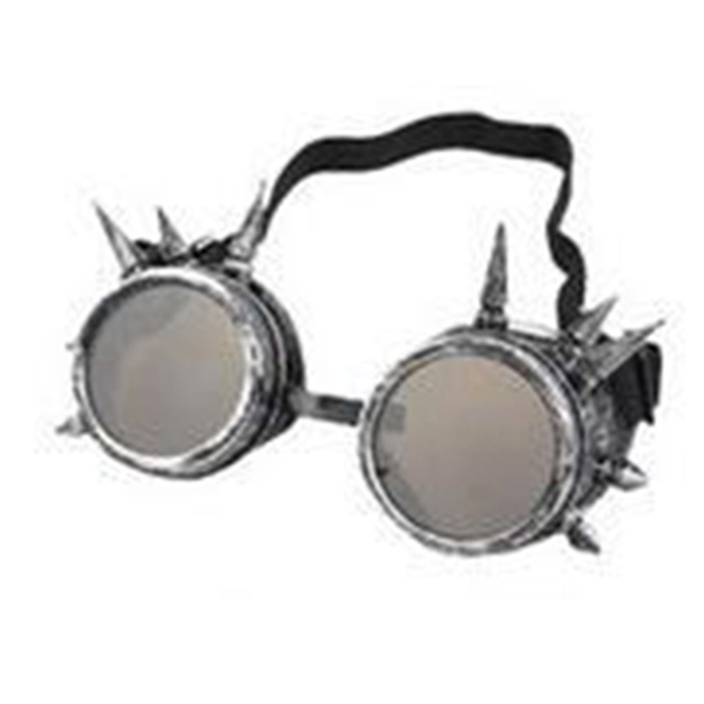 Vintage Steampunk Cyber Goggles With Rivet Welding Gothic Cosplay Goggles For Halloween Wind Glasses For Outdoor Riding