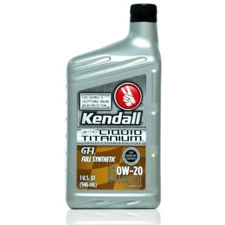 Kendall Gt 1 Full Synthetic 0w 20 Liquid Titanium 12 1