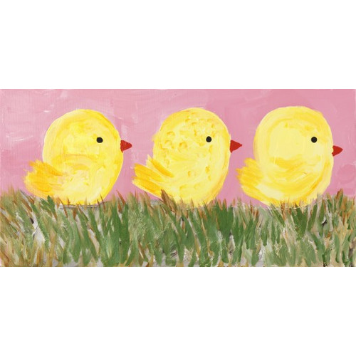 Three Chicks by Judith Raye Original Painting Print