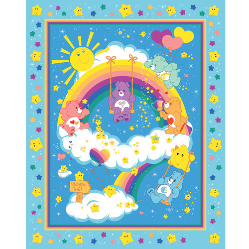 VIP Fabrics Care Bears Double-Faced Quilted Fabric