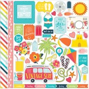 "Summer Party Cardstock Stickers 12""X12""-Element"