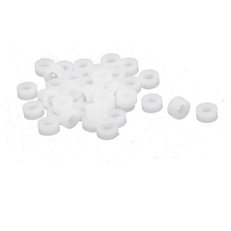 30pcs 2.9mm Inner Dia Plastic DIY Toy Car Axle Sleeve Bushing Gasket