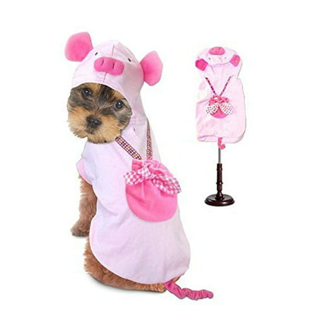 Dog Costume PIG COSTUMES Dress Your Dogs as Farm Animal Pink Piglet(Size 0) (Piglet Dog Costume)
