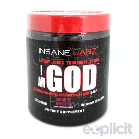 I Am God - Drink Ye All Of It - 25 Servings - Insane Labz for $<!---->