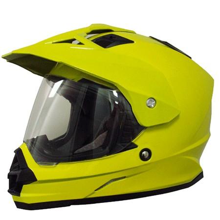 AFX FX-39DS Dual Sport Solid Full-face Helmet Hi-Viz Yellow