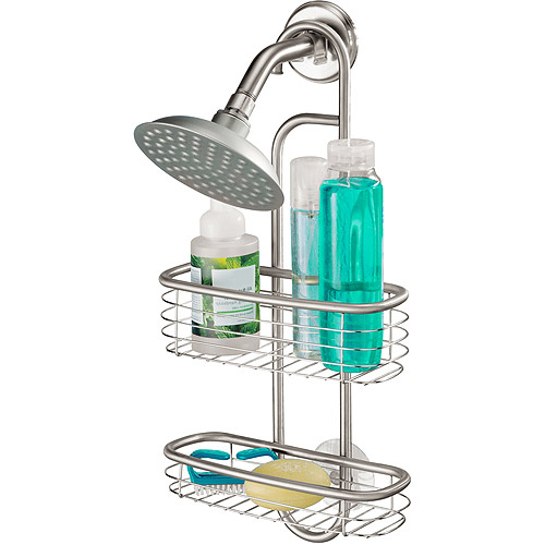 InterDesign Forma Ultra Bathroom Shower Caddy for Shampoo, Conditioner, Soap, Brushed Stainless Steel