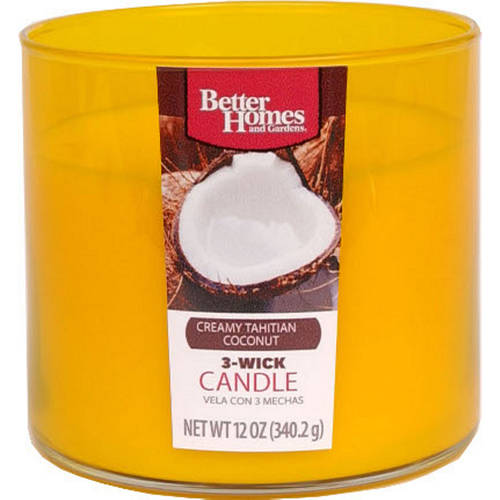 Better Homes and Gardens 12-Ounce Candle, Creamy Tahitian Coconut
