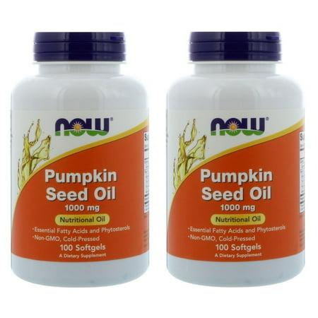 Now Foods - Pumpkin Seed Oil, 1000 mg, 100 Softgels - 2 Packs