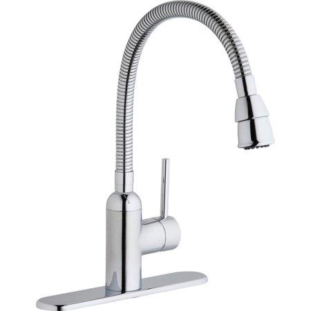 Elkay Chrome Swivel Faucet (Elkay LK2500CR Pursuit Flexible Spout Laundry/Utility Single-Hole Faucet,)